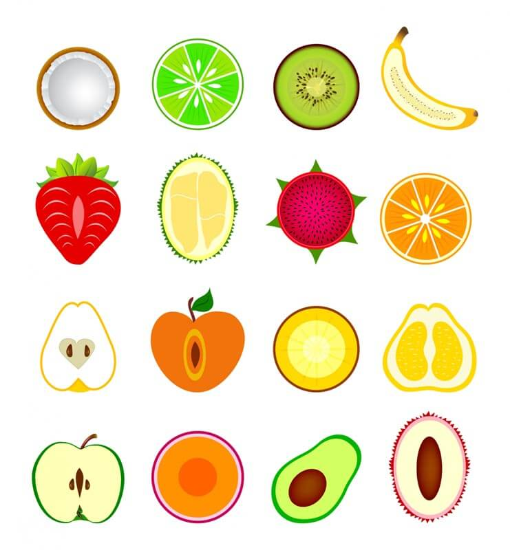 рисунки фруктов для срисовки