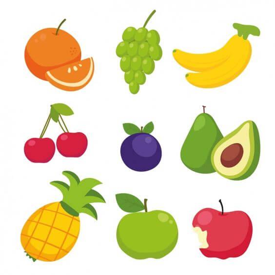 картинки для срисовки легкие фрукты