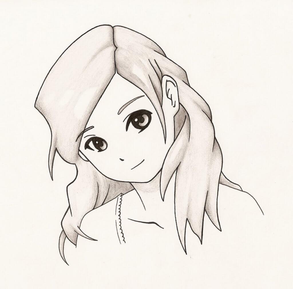 рисунки для срисовки лица