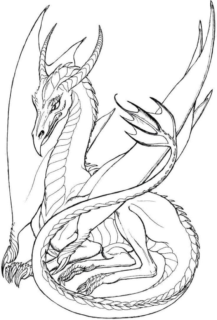 рисунки драконов для срисовки