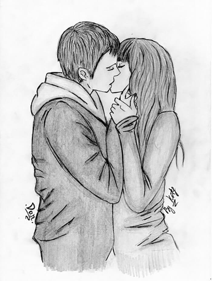 милые рисунки для срисовки любовь