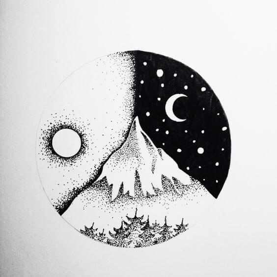 прикольные рисунки для срисовки черной ручкой