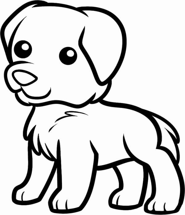 щенок для срисовки
