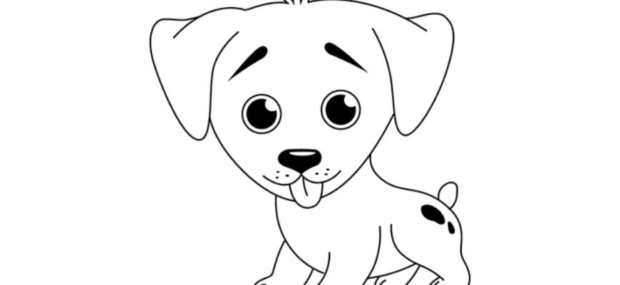 картинки для срисовки лёгкие собаки