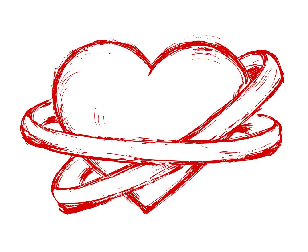 рисунки для срисовки сердечки