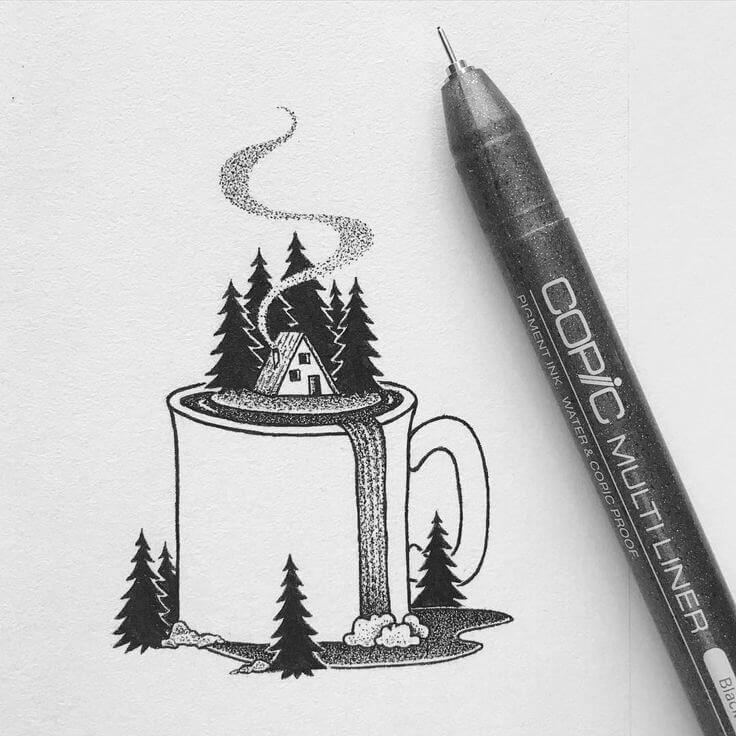красивые картинки для срисовки ручкой