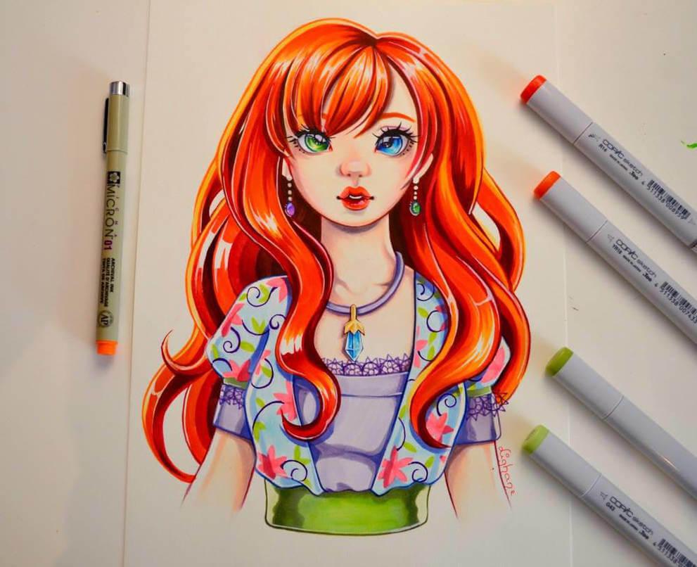 рисунки фломастерами для срисовки для начинающих