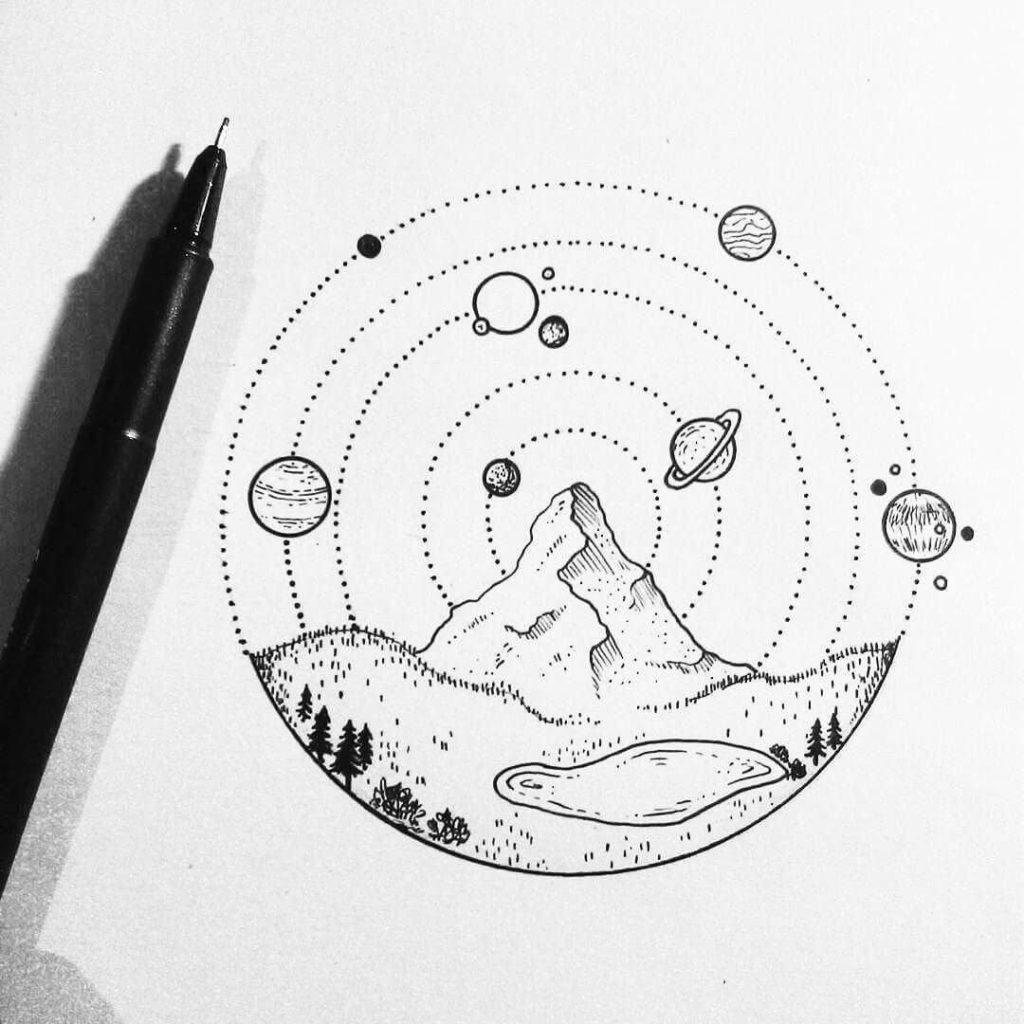 картинки для срисовки ручкой для начинающих