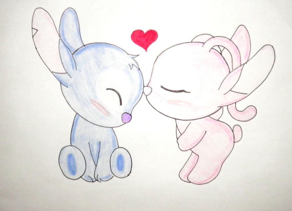 картинки срисовать про любовь