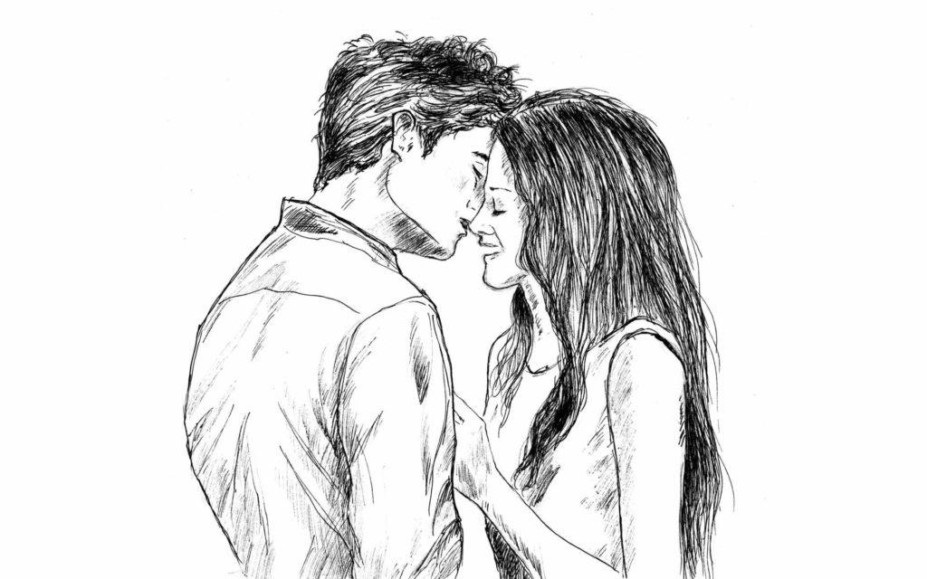 картинки для срисовки любовь пары