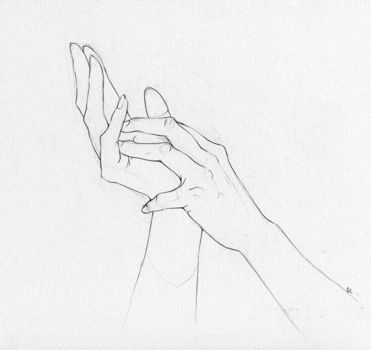 картинки для срисовки легкие руки