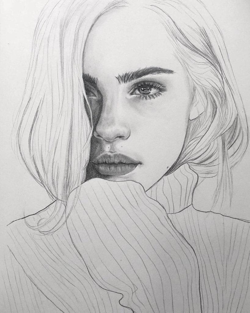 картинки для срисовки портреты