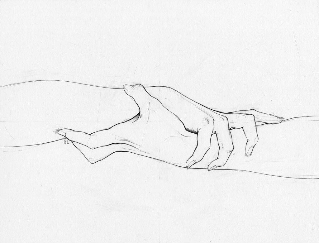 срисовки легкие руки
