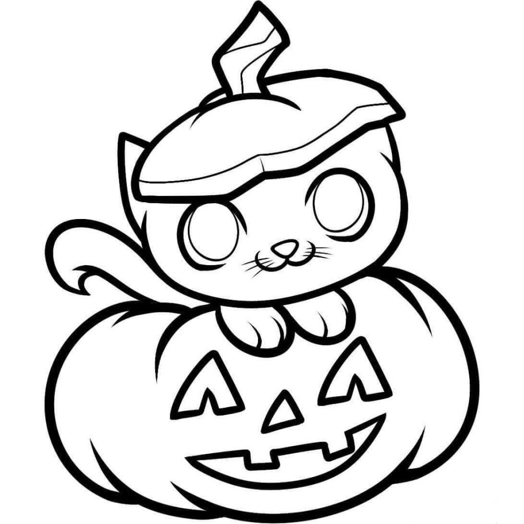 картинки на хэллоуин для срисовки тыквы