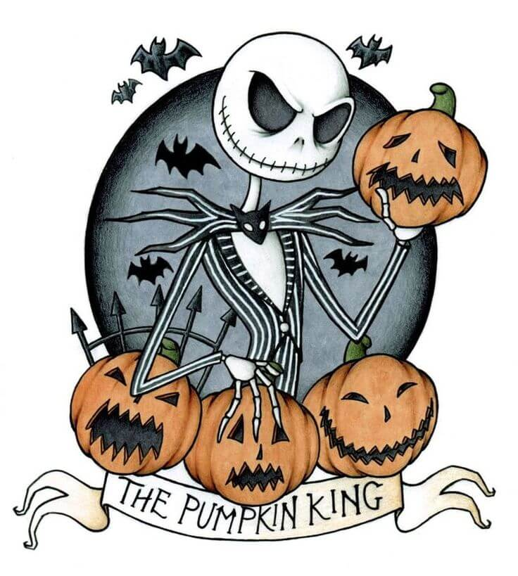 картинки на хэллоуин для срисовки череп тыква