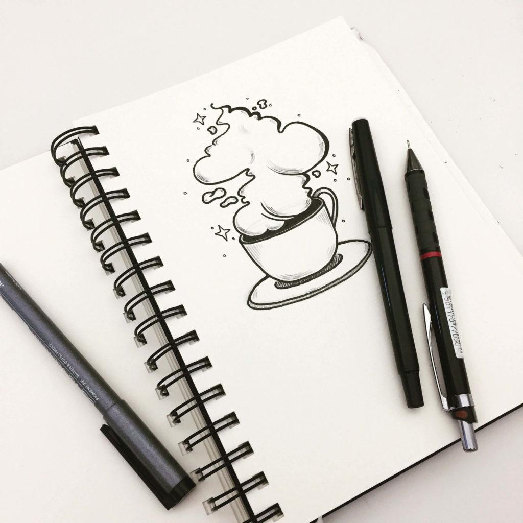 маленькие рисунки для срисовки в блокнот легкие