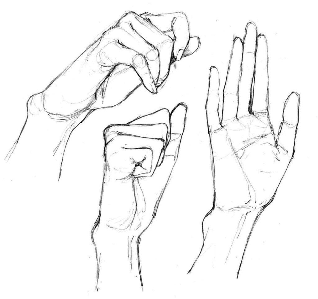 для срисовки легкие руки