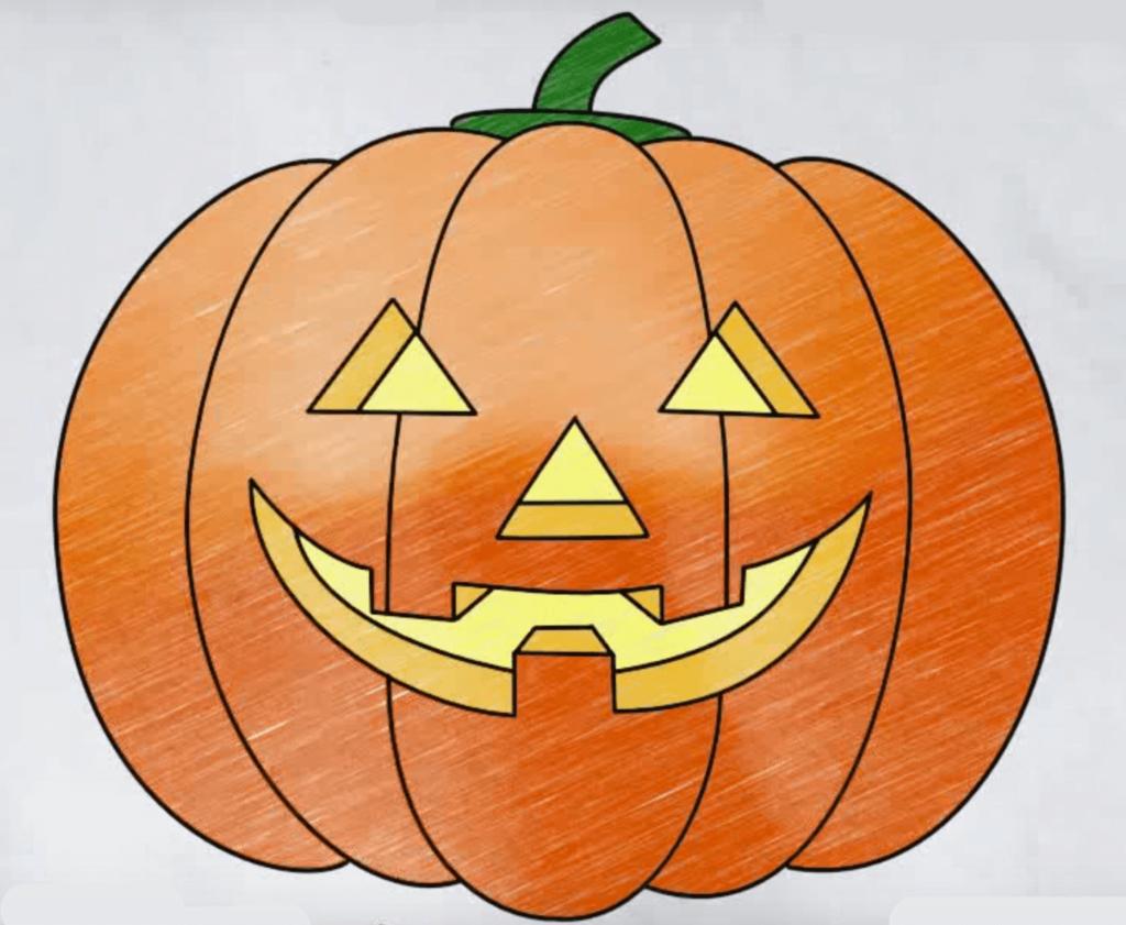 картинки на хэллоуин для срисовки тыква