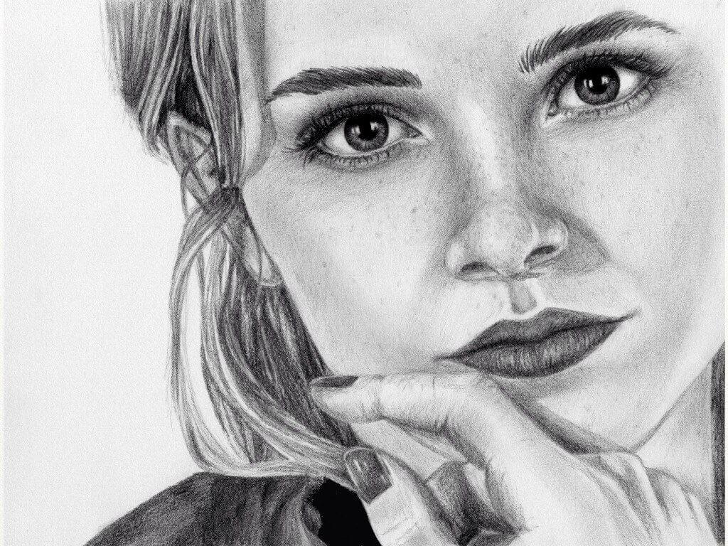 рисунки для срисовки портреты