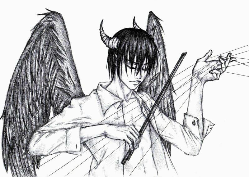 картинки для срисовки милые демоны