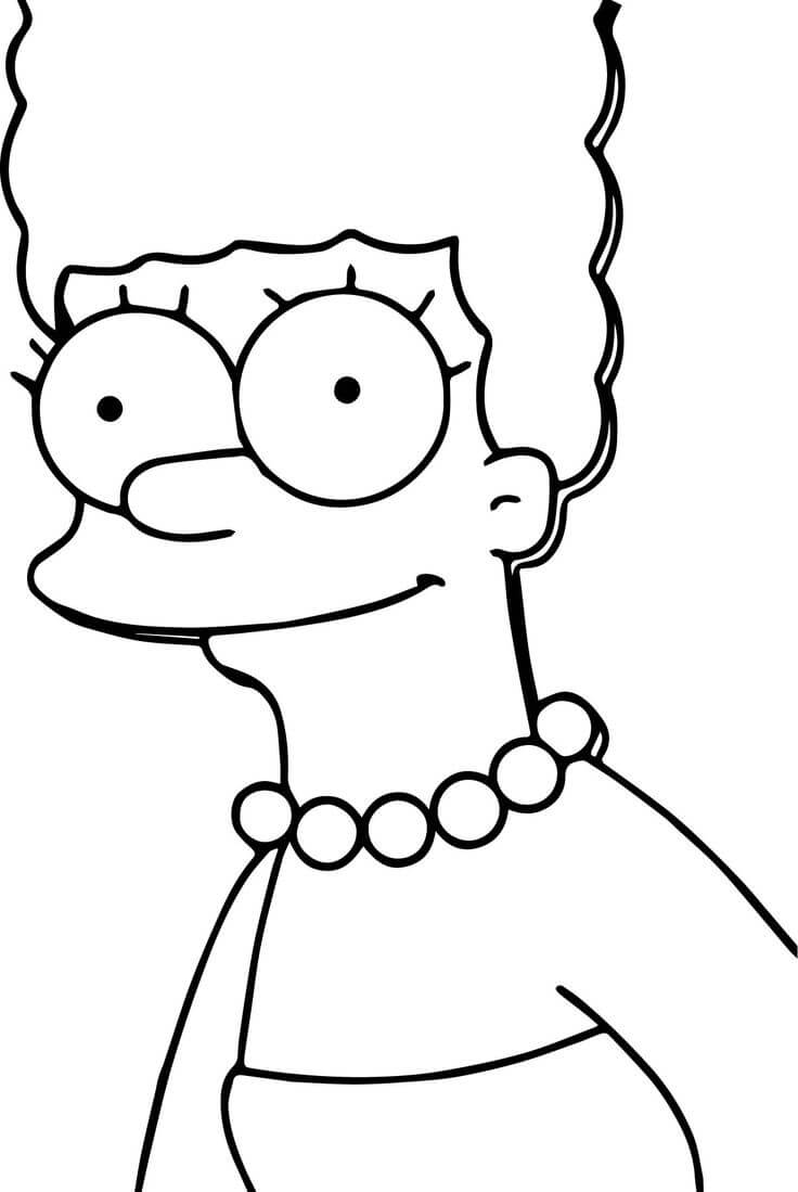 рисунки для срисовки симпсоны грустные