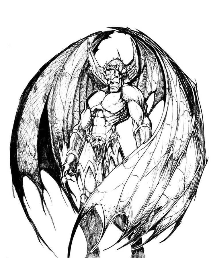 картинки для срисовки демоны с крыльями