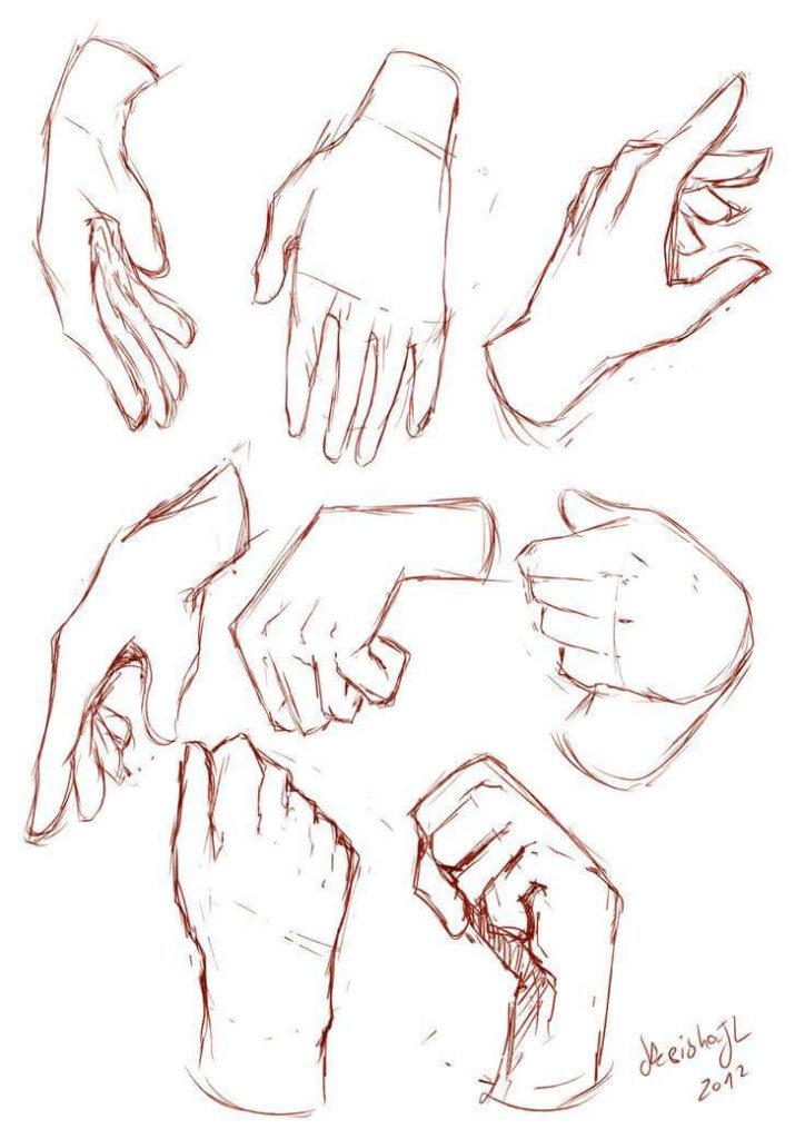 рисунки рук для срисовки