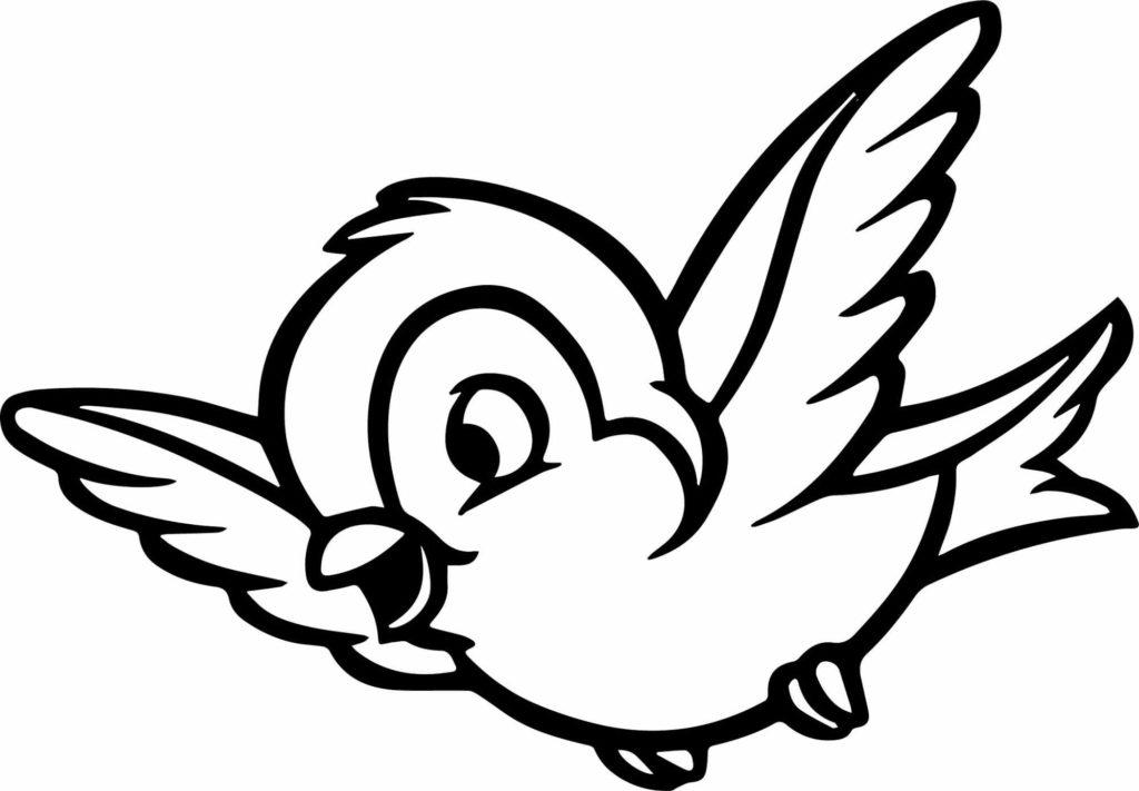 рисунки для срисовки птички мультяшные