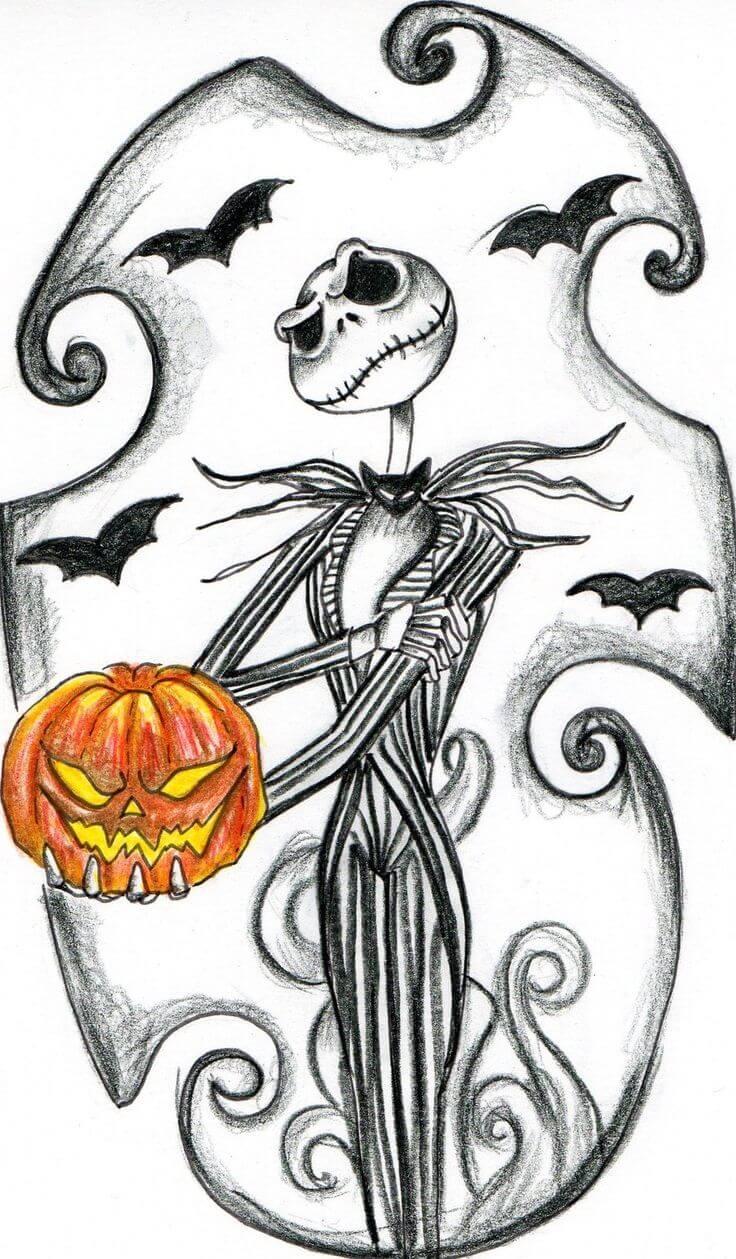 картинки на хэллоуин для срисовки страшилка