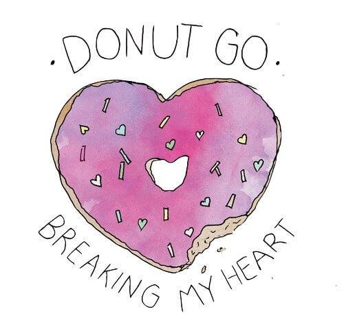 картинки для срисовки легкие с надписями пончик