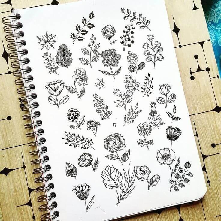 рисунки для срисовки в блокнот легкие