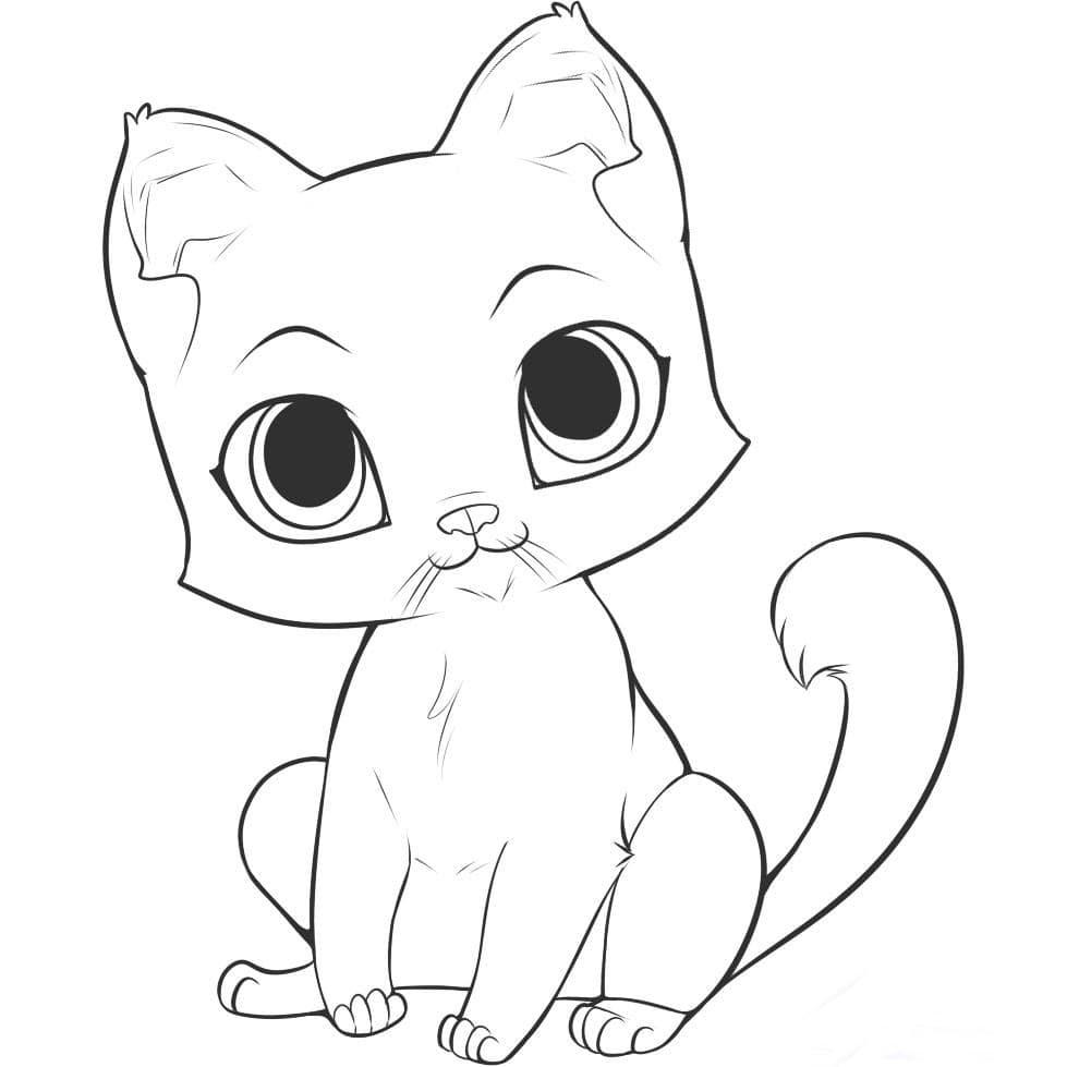 коты арты для срисовки мультяшный
