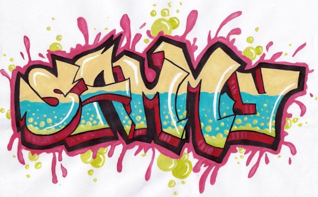 срисовки граффити