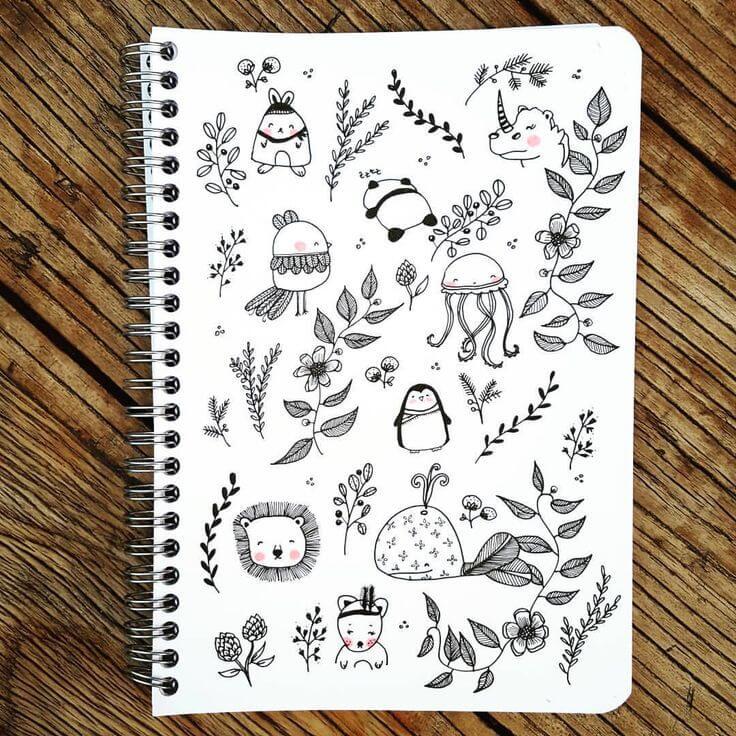 картинки для срисовки в блокнот