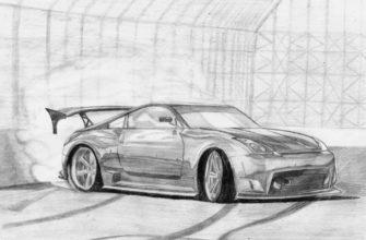 картинки для срисовки машины поэтапно