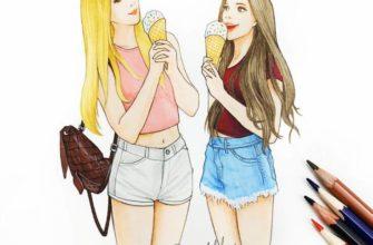 картинки для срисовки подруги