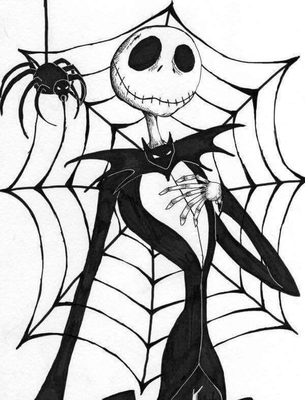 картинки на хэллоуин для срисовки паутина