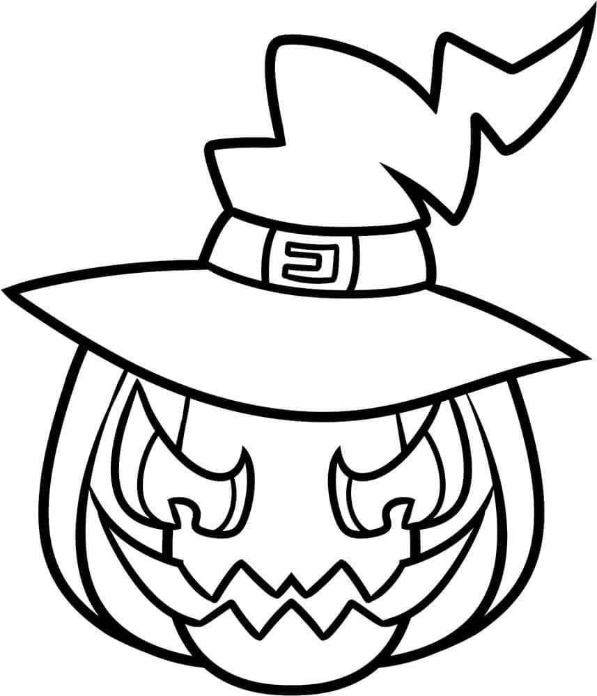 картинки на хэллоуин для срисовки шляпа