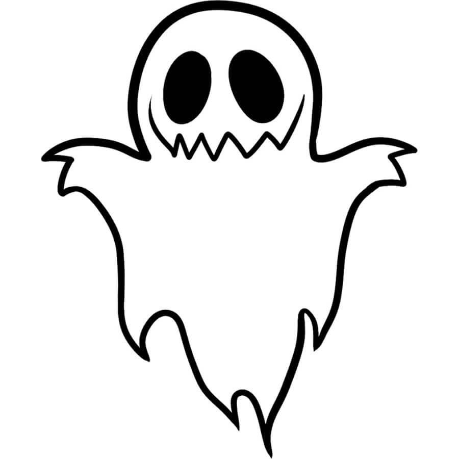 картинки на хэллоуин для срисовки приведение