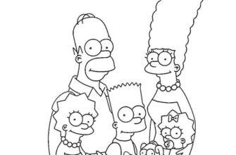 срисовки симпсоны