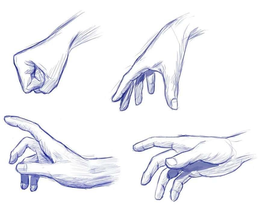 срисовки руки