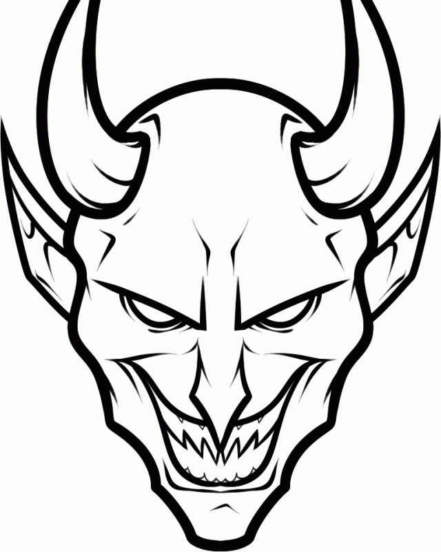 картинки для срисовки демоны страшные