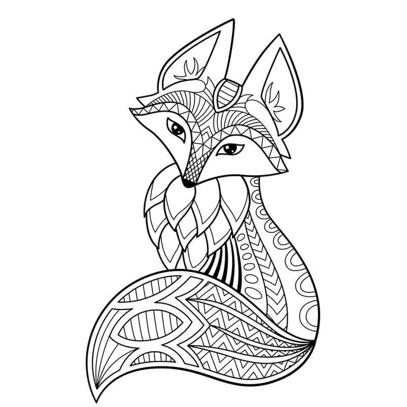картинки для срисовки лисички