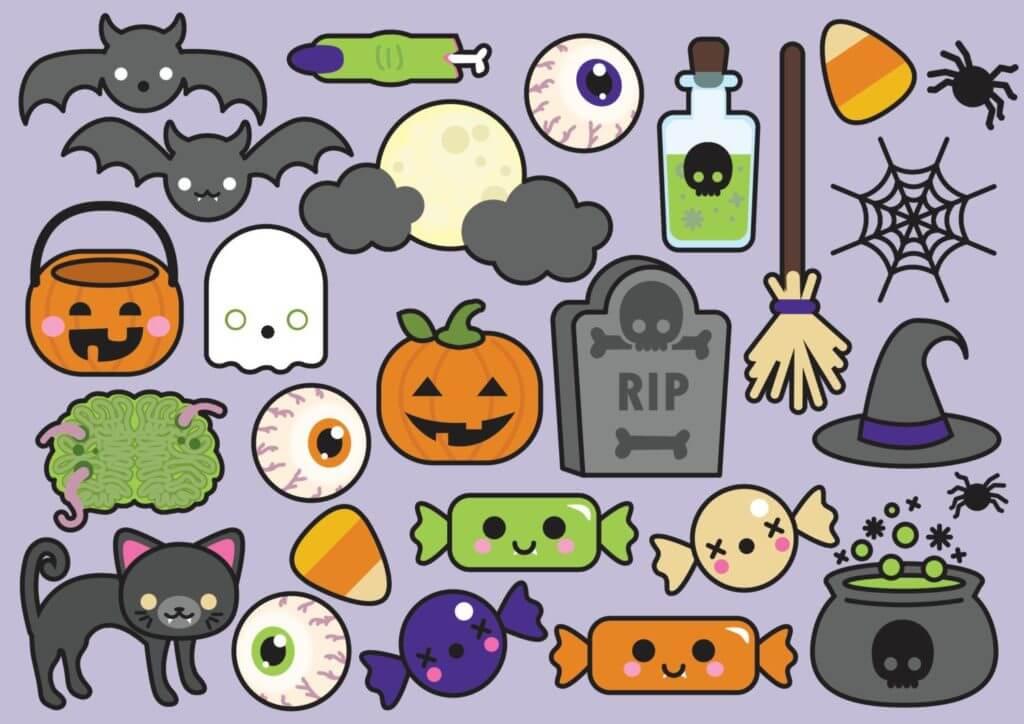 картинки на хэллоуин для срисовки маленькие картинки