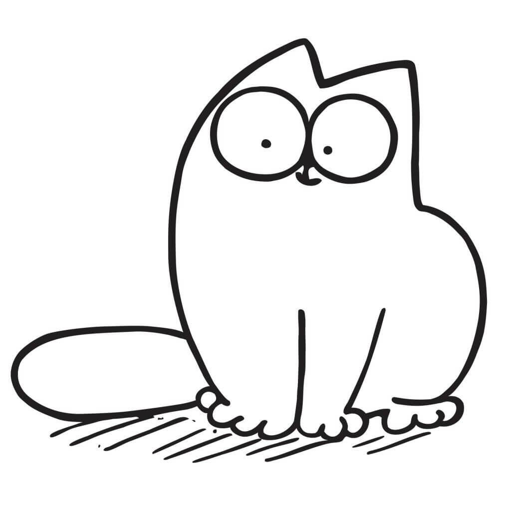 рисунки котов для срисовки легкие когти