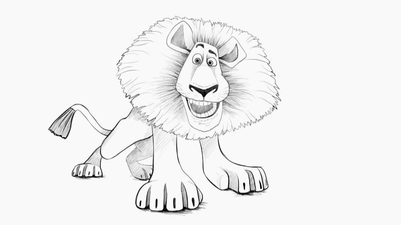 картинки для срисовки лев