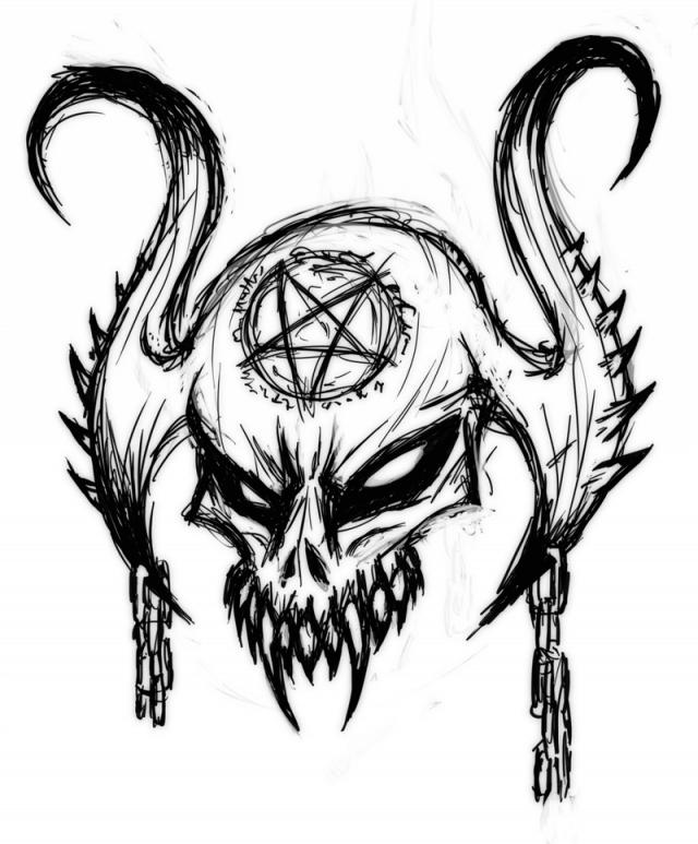 картинки для срисовки демоны