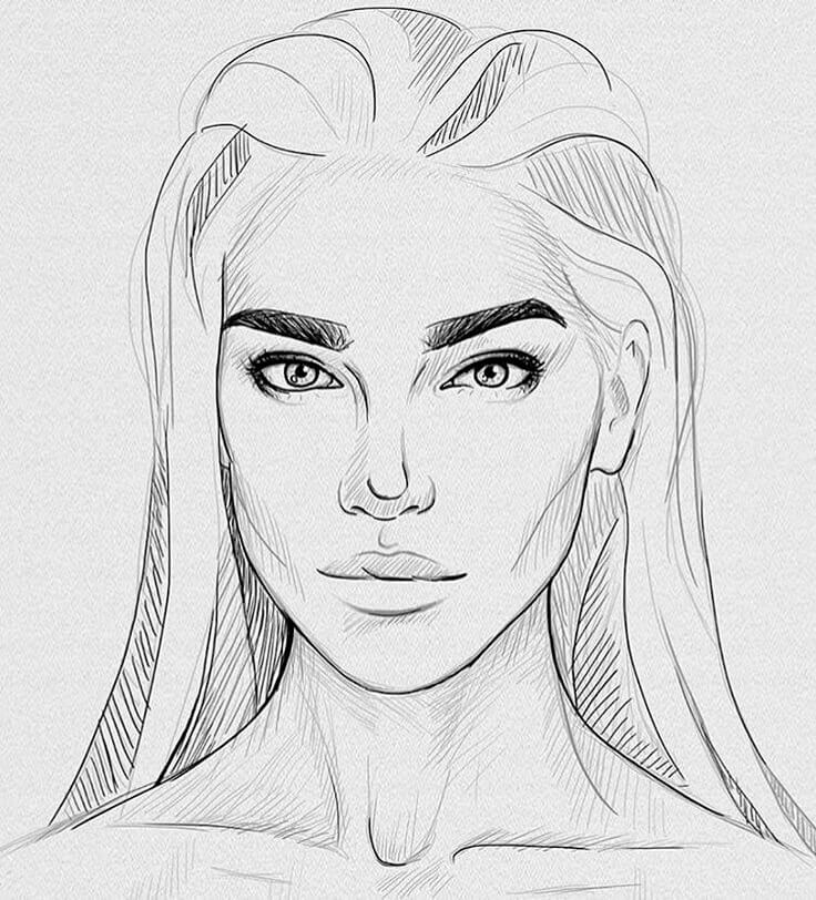красивые портреты для срисовки