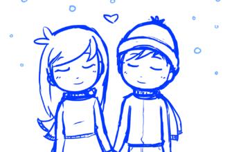рисунки пар влюбленных для срисовки