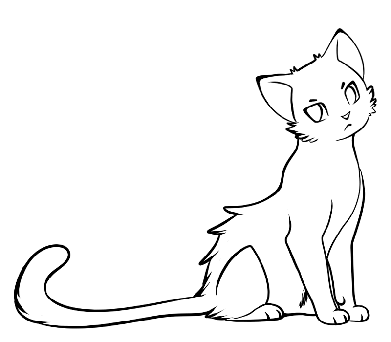 рисунки котов для срисовки легкие кошка